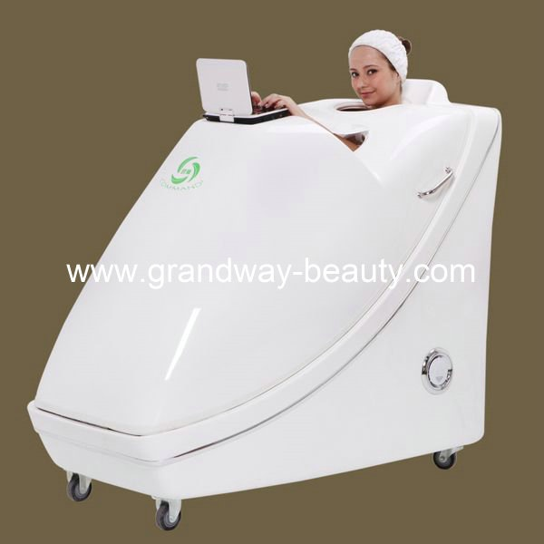 Luxury Herbal Fumigation hydro steam Spa Capsule DVD screen White