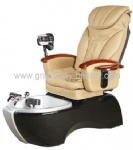 Salon pedicure chair with nail equipment